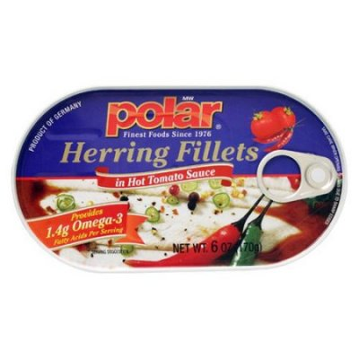 Herring Fillets, in Hot Tomato Sauce