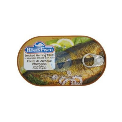 Herring Fillets, Smoked, In Vegetable Oil And Own Juice