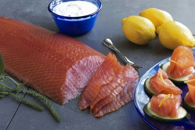 Kendall Brook Salmon, Naturally Smoked Fresh & Pre-Sliced