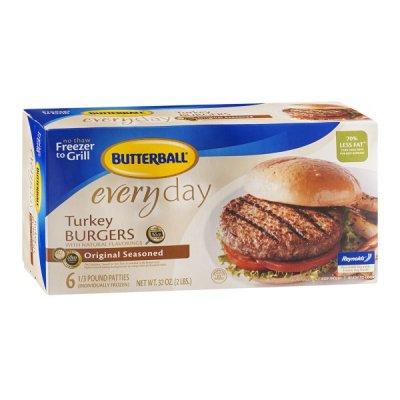 Everyday Turkey Burgers With Natural Flavoring