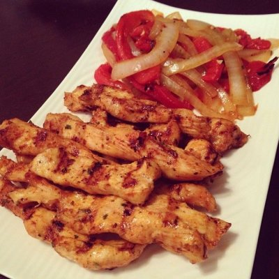 Sliced Chicken Fajita Strips