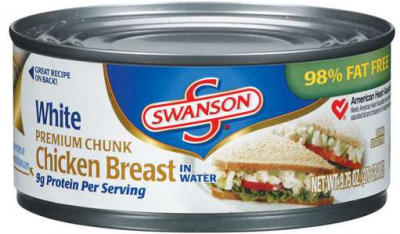Chicken Breast, Chunk, Canned