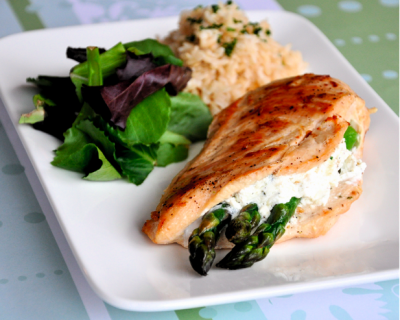 Stuffed Chicken Breasts, Asparagus and Cheese