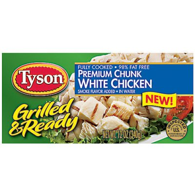 White Premium Chunk Chicken Breast, Grilled