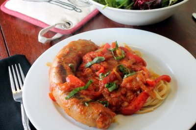Chicken Sausage Sweet Italian With Red Bell Peppers
