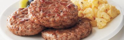 Fully Cooked Turkey Sausage Patties