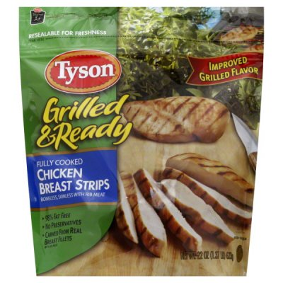 Grilled & Ready, Fully Cooked Chicken Breast Strips