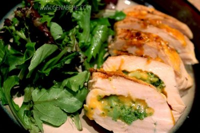 Stuffed Chicken Breasts with Rib Meat, Broccoli & Cheese