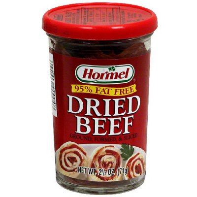 Dried Beef, Ground & Formed Sliced