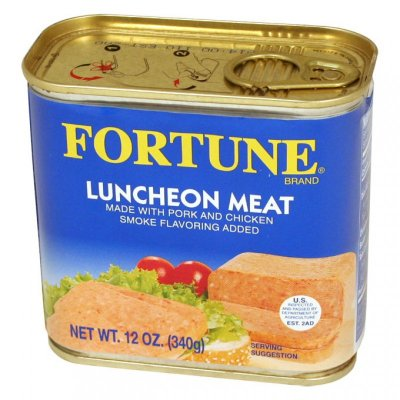 Pork & Chicken Luncheon Meat Smoke Flavor Added