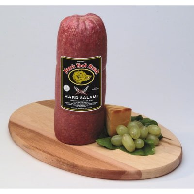 Salami, Hard, with Natural Smoke Flavor Added