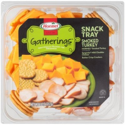 Snack Tray,Turkey W/Cheese & Crackers