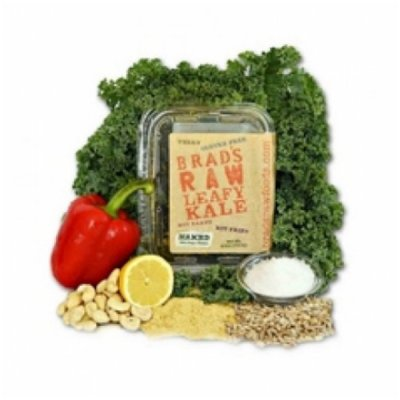 Raw Crunchy Kale, Naked Plain Vegan Cheese