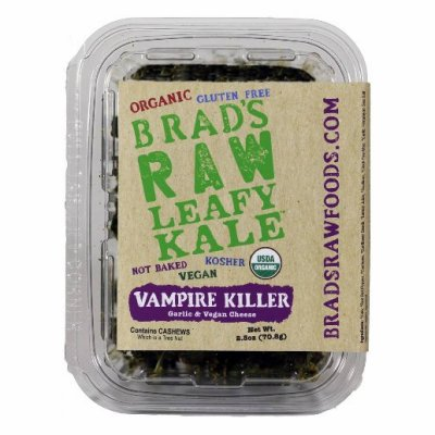 Raw Leafy Kale, Vampire Killer Garlic & Vegan Cheese