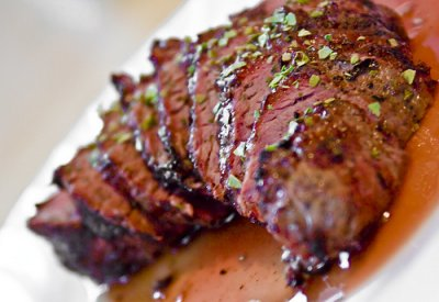 Beef, loin, top sirloin cap steak, boneless, separable lean only, trimmed to 1/8