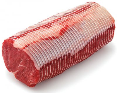 Beef, ribeye petite roast, boneless, separable lean only, trimmed to 0