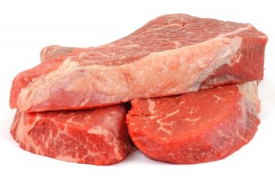 Beef, chuck, shoulder clod, top blade, steak, separable lean and fat, trimmed to 0