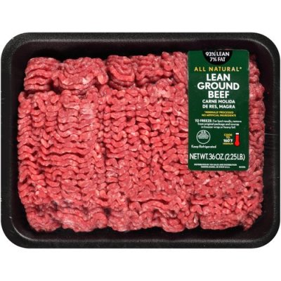 Ground Beef, 90% Lean, Prepared