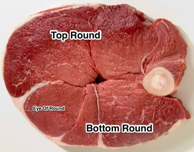 Steak, Top Round Roast, Prepared