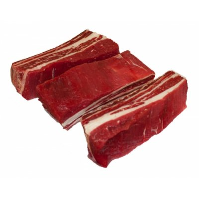 Beef, rib, small end (ribs 10-12), separable lean and fat, trimmed to 0