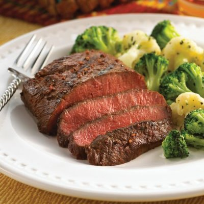 Flat Iron Steak, Prepared