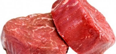 Beef, rib eye steak, boneless, lip off, separable lean and fat, trimmed to 0
