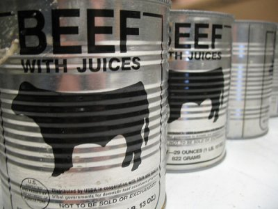 USDA Commodity, beef, canned
