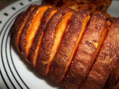Cut Sweet Potatoes