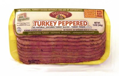 Turkey Peppered Uncured Bacon