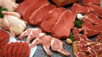 Pork, fresh, variety meats and by-products, mechanically separated, raw