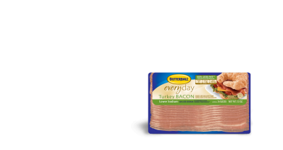 Turkey Bacon,Lower Sodium 65% Less Fat