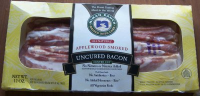 Bacon,All Natural Applewood Smoked Center Cut Uncured