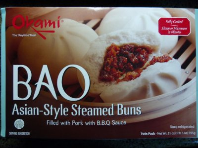 Bao Asian-Style Steamed Buns Dough Filled Pork With B.B.Q. Sauce