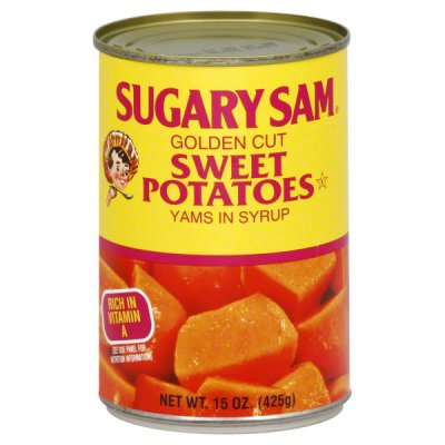 Sweet Potatoes,Sugary Sam Golden Cut Yams In Syrup