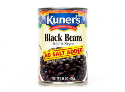 Black Beans, No Salt Added
