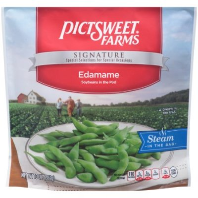 Edamame, In-Shell Soybeans, Steam in Bag