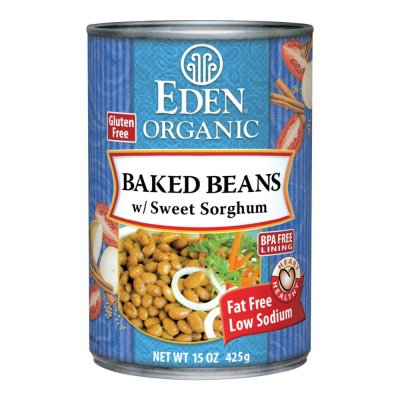 Baked Beans (navy) w/Sorghum, Organic