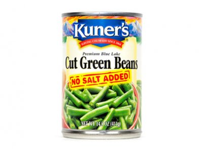 Green Beans, Cut, No Salt Added