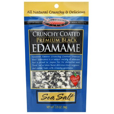 Crunchy Coated Premium Black Edamame, Sea Salt