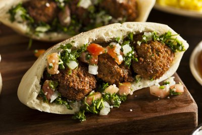 Falafel, Pita Stuffers Mix With Garbanzos