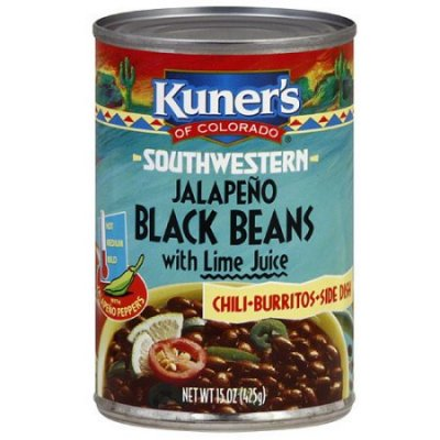 Black Beans, Jalapeno with Lime Juice