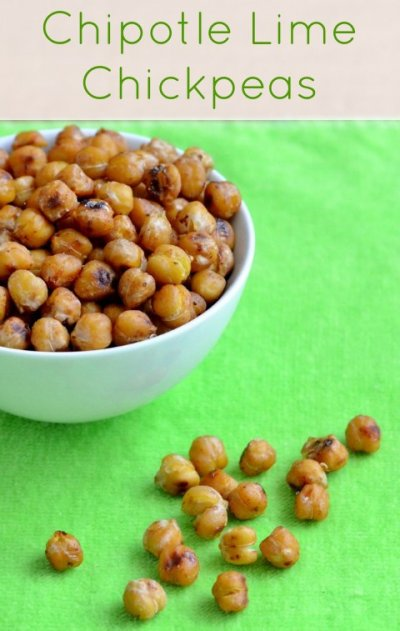 Chipotle Crunchy Chickpeas, Whole Chickpeas Seasoned With Chipotle