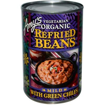 Refried Beans with Mild Green Chiles
