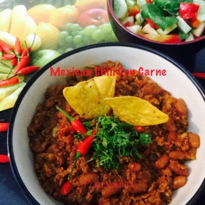 Turkey Chili Con Carne with Beans