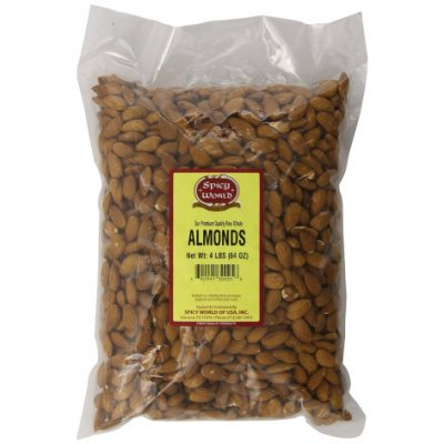 Almonds, Natural Whole, Not Roasted or Salted