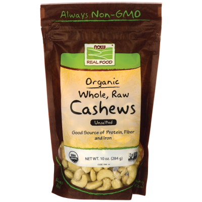 Organic Whole Cashews Unsalted, Unroasted