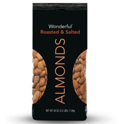 Almonds, Roasted And Salted With Sea Salt