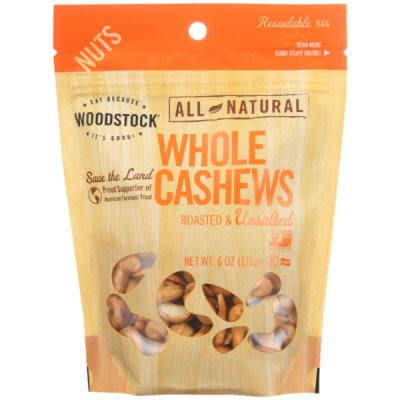 Whole Cashews Roasted, Unsalted