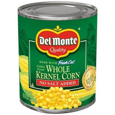 Corn, Whole Kernel, No Salt Added.