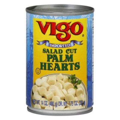 Palm Hearts, Salad Cut, Canned